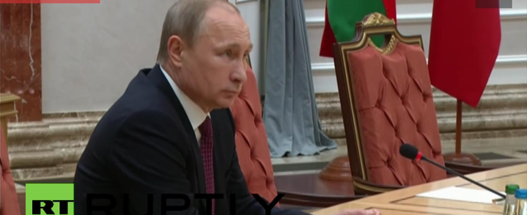 Фейк: Путин сломал карандаш во время минских переговоров