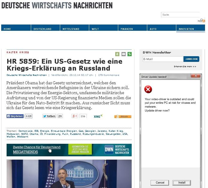 Скриншот сайта deutsche-wirtschafts-nachrichten.de