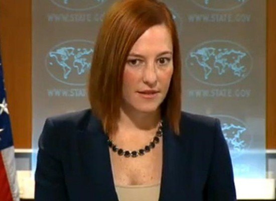 "Fake: Jen Psaki Says that Yanukovych ""Resigned"" of His Own Accord"