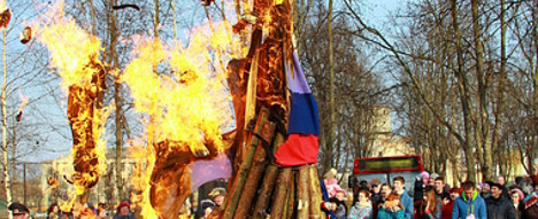 Fake: Russian Flag Burned in Belarus