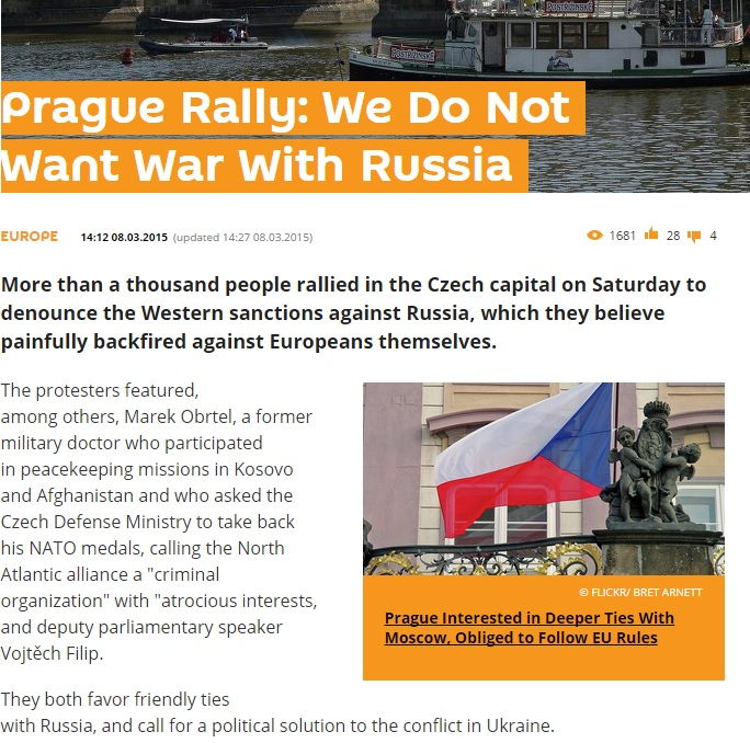 Скриншот сайта sputniknews.com