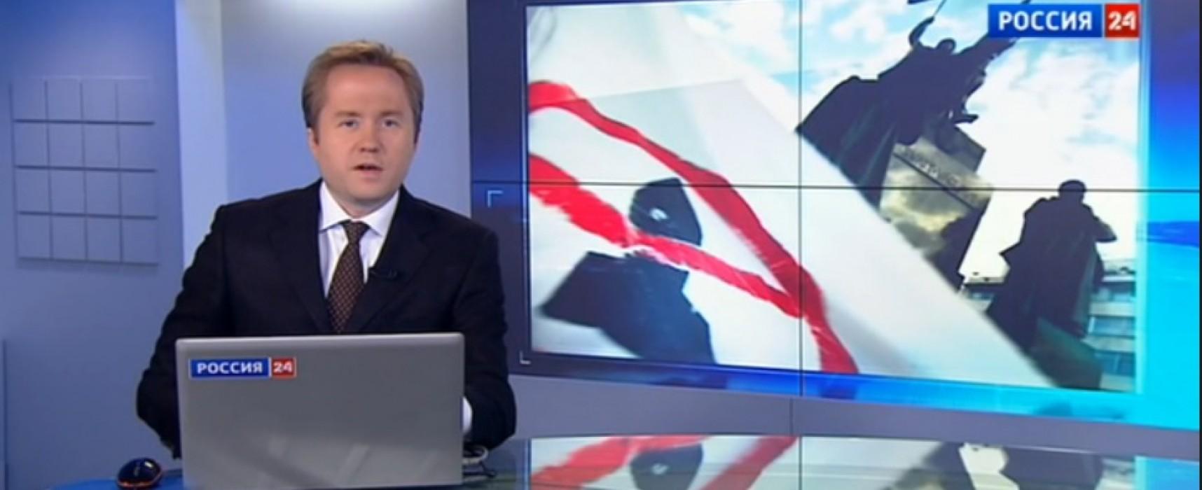 La prensa rusa mostró el mitin en apoyo del presidente checo como una protesta contra las sanciones antirusos