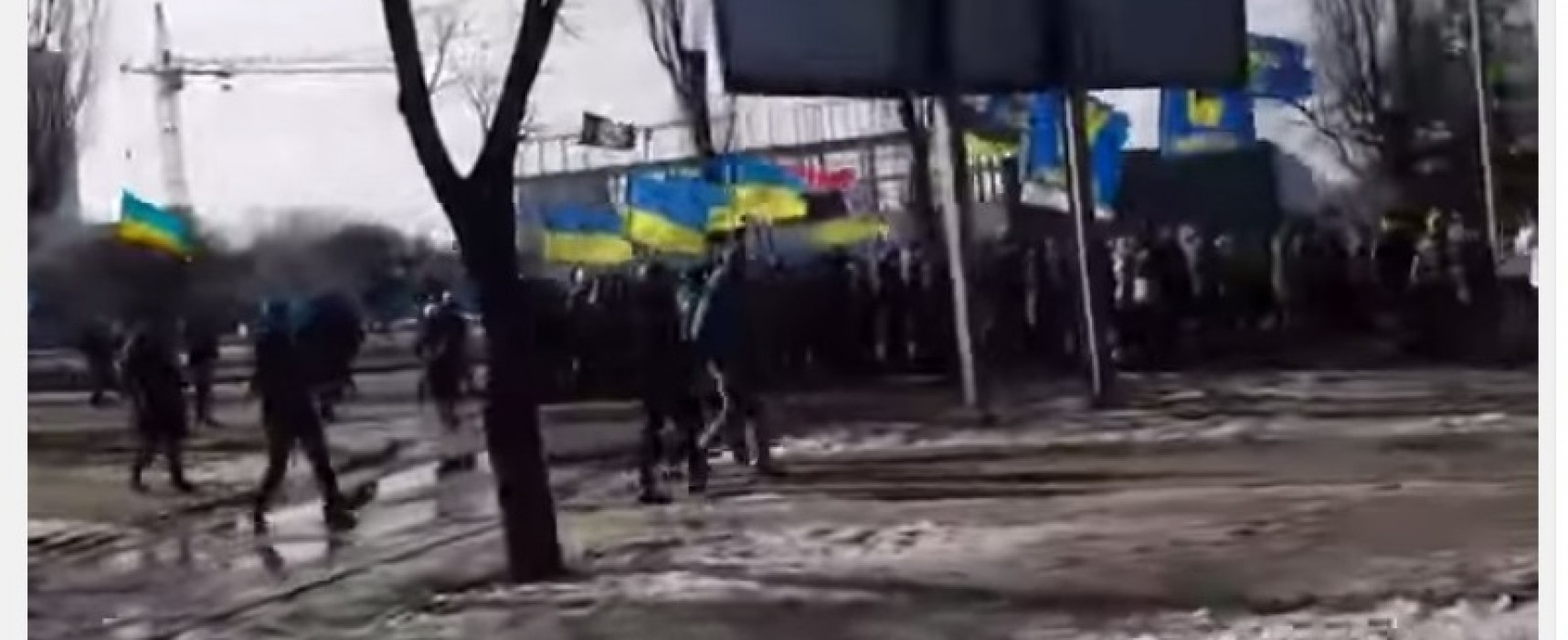 """Fake: Marchers Call Out """"Death to Moskals"""" in Kharkiv"""