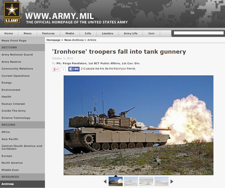 Скриншот с сайта army.mil
