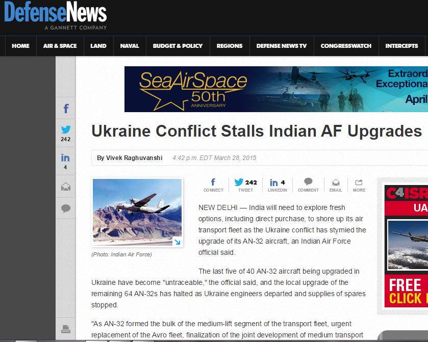 Скриншот defensenews.com