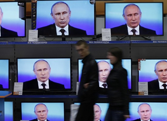 Vladimir Putin's 'misinformation' offensive prompts US to deploy its cold war propaganda tools