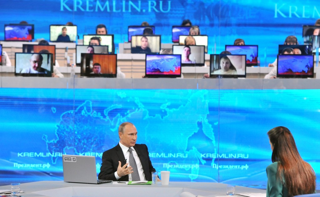 The Putin show - brought to millions of Europeans by RT (Photo: kremlin.ru)