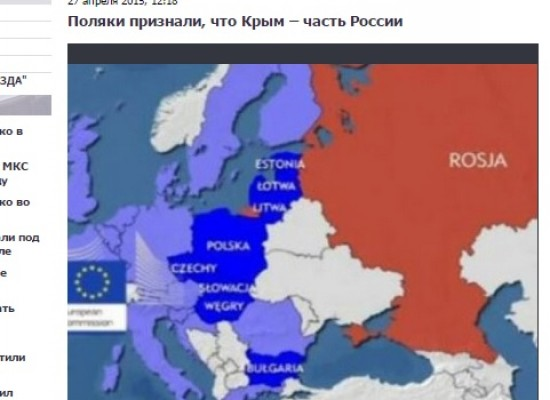 Fake: Poles Recognize Crimea as Part of Russia