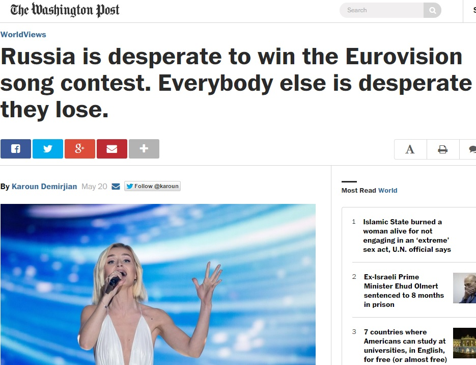 Zvezda Misrepresents Washington Post Column