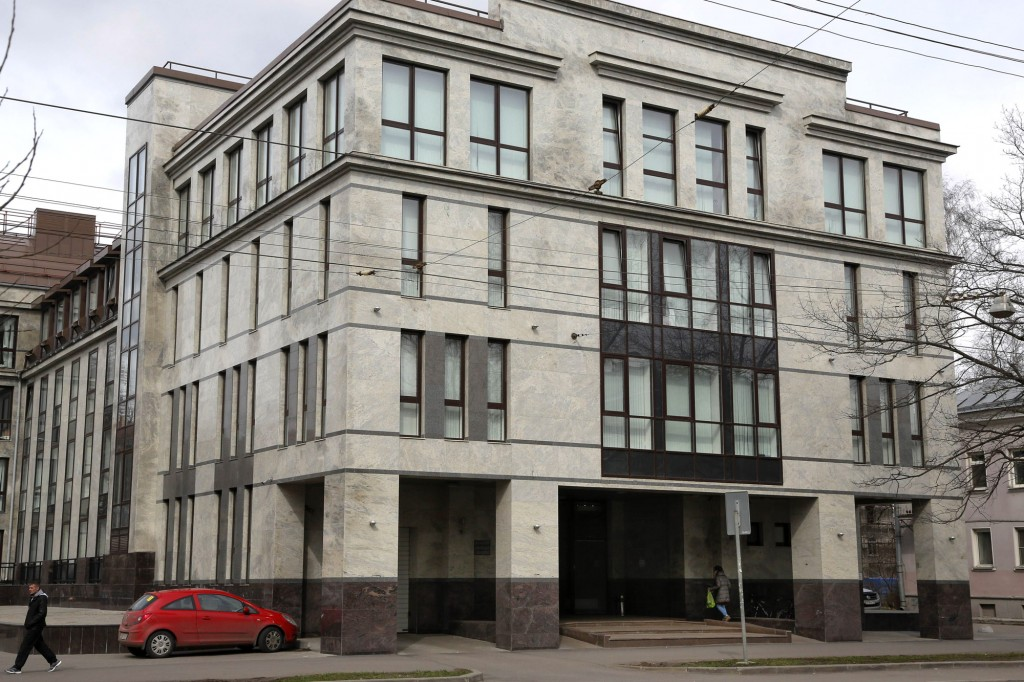 """The building known as the """"troll factory"""" in St. Petersburg, where hundreds of young Russians work around the clock writing blogs and posting comments that support Putin and attack the West.Photo: AP"""