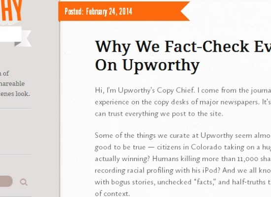 What happens when a curation site emphasizes fact-checking?