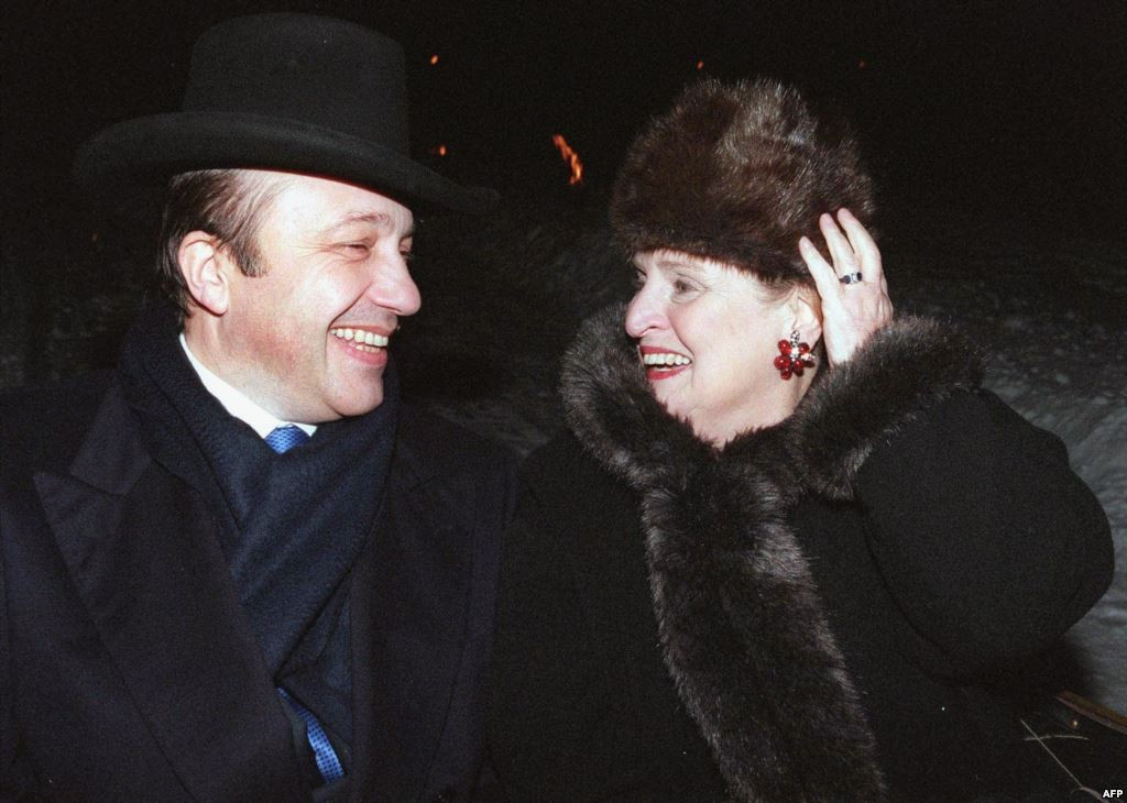 Then-U.S. Secretary of State Madeleine Albright with then-Russian Foreign Minister Igor Ivanov in Moscow in January 2000