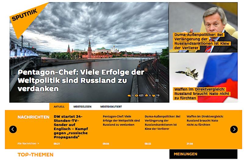 Putinversteher: Kremlin is spending at least €643 million this year (Photo: de.sputniknews.com)