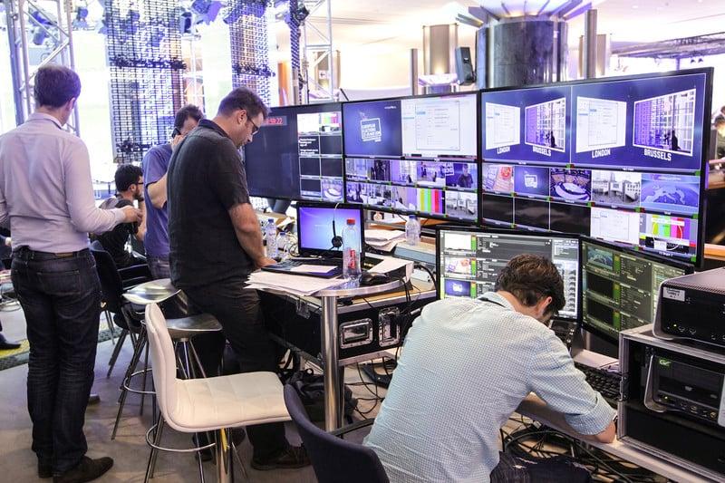 EU parliament media team working on 2014 elections (Photo: europarl.europa.eu)