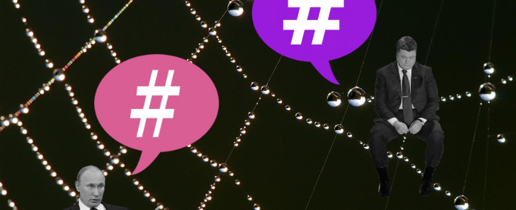 Hashtags and User Networks in the Putin-Poroshenko Twitter Chatter