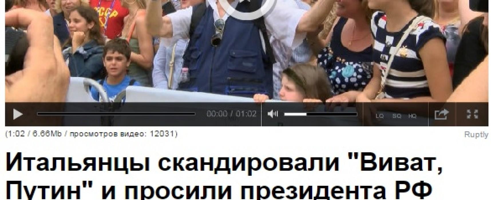 Fake: Italians Ask Putin to Save the World