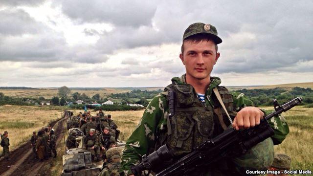 Russian soldier Stanislav Tarasov
