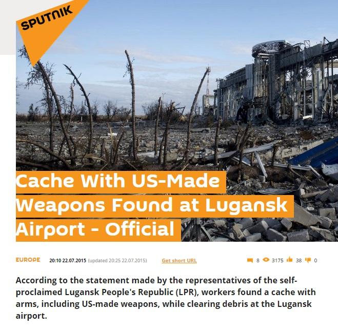 Screenshot of Sputnik News site