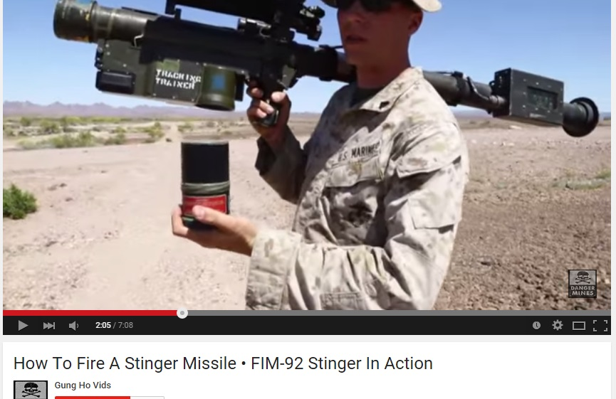 Screenshot from the training video of American Special Forces