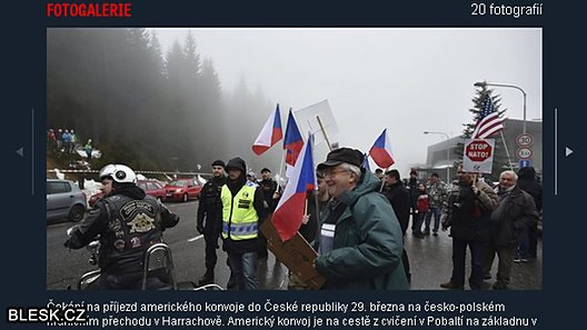The Czech website Blesk.cz carried pictures of both pro- and anti-Nato demonstrators