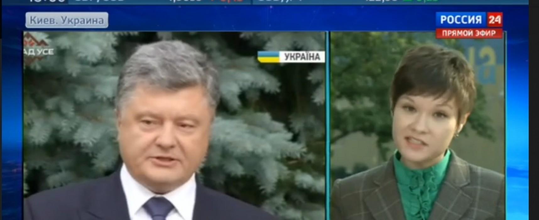 """Rusia 24"" desinformó sobre los poderes de Poroshenko"
