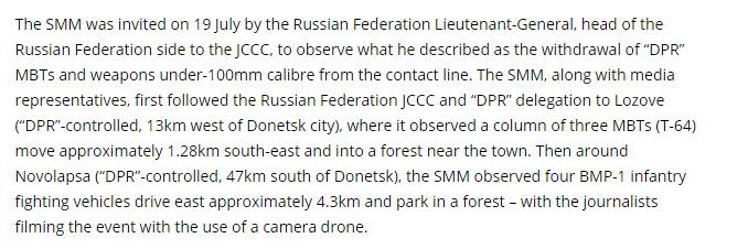 Report by SMM OSCE, July 19
