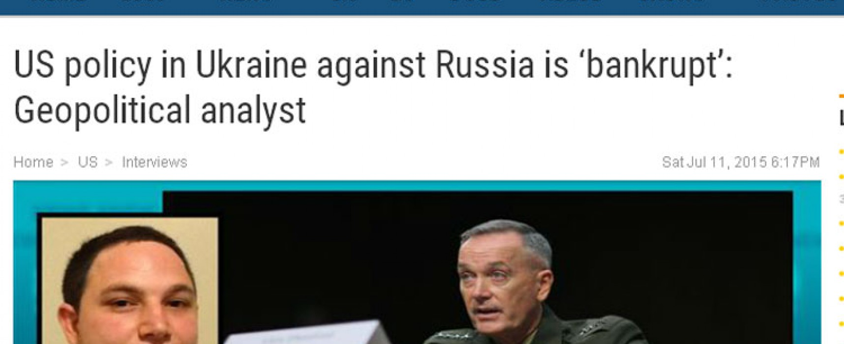 Российские СМИ продолжают представлять продавца страховок как известного геополитика
