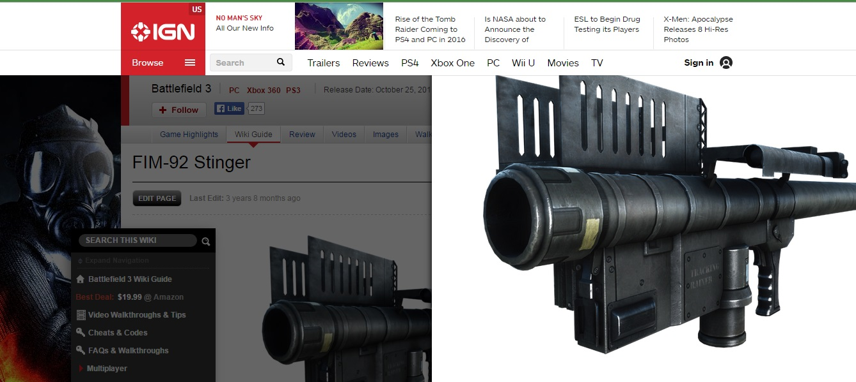 Captura de pantall del sitio web Battlefield 3