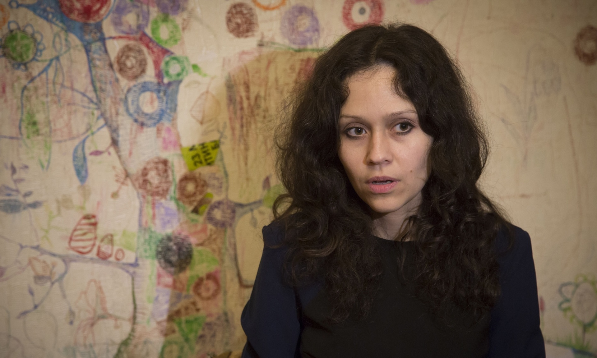 Lyudmila Savchuk, who worked at the trolling factory for two months. Photograph: Dmitry Lovetsky/AP