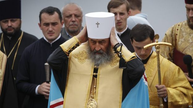 Metropolitan Onufriy has expressed pro-Russian views - touching a raw nerve in troubled Ukraine