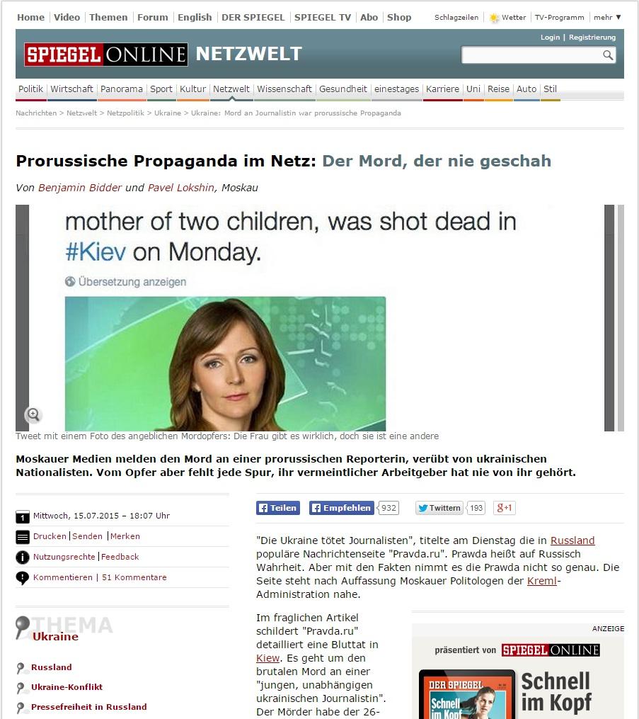 La propaganda favor de Rusia en la red: El asesinato que nunca ocurrió http://www.spiegel.de