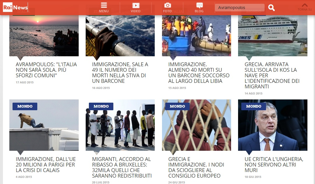 rainews.it website screenshot