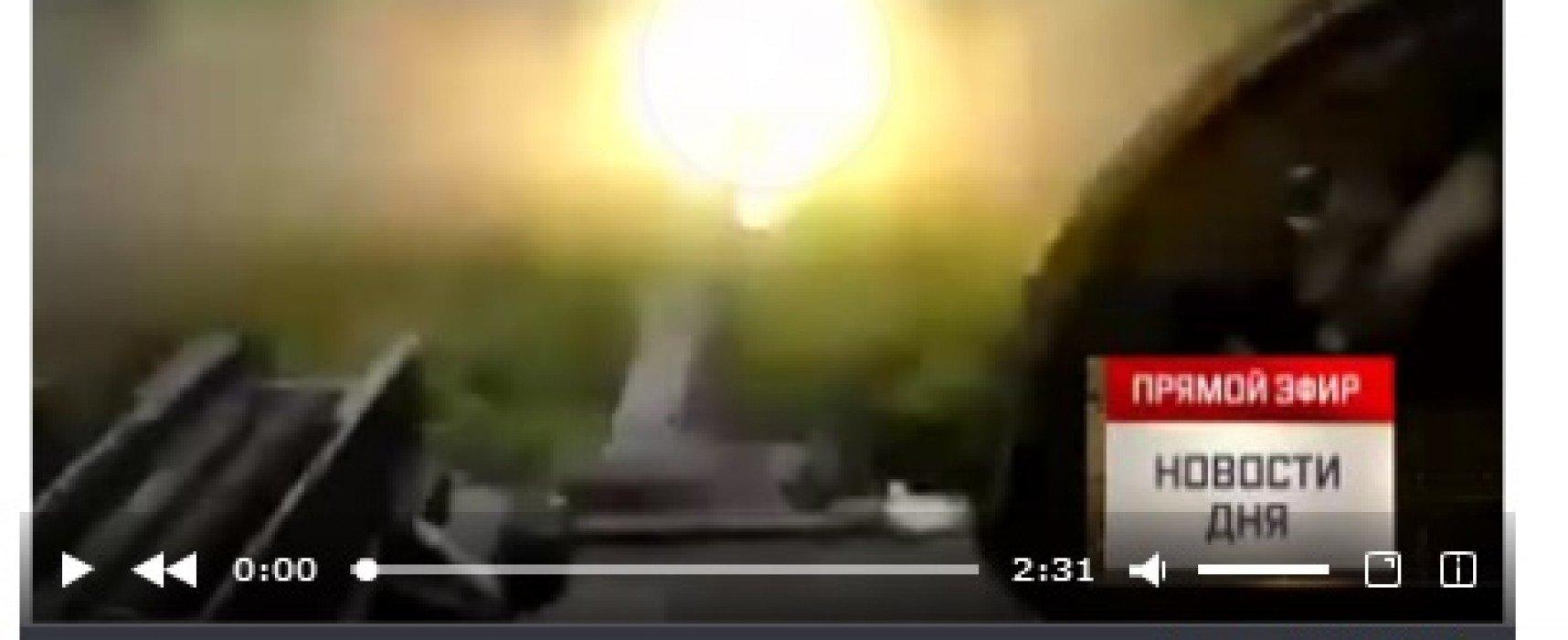 """Postul de televiziune """"Zvezda"""" a falsificat imagini video despre bombardamentul localităţii Gorlovka"""