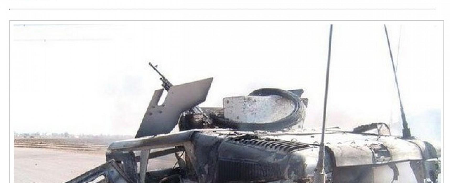 "Fotofake: partizanii din Doneţk au nimicit un ""Hummer"" american"
