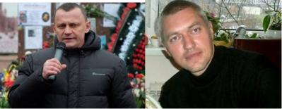 Left Mykola Karpyuk, right: Stanislav Klykh