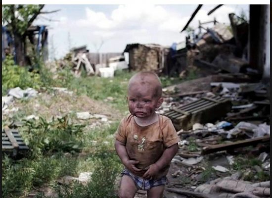 Photo Depicting Donbas Boy Looking for His Mother Was Staged