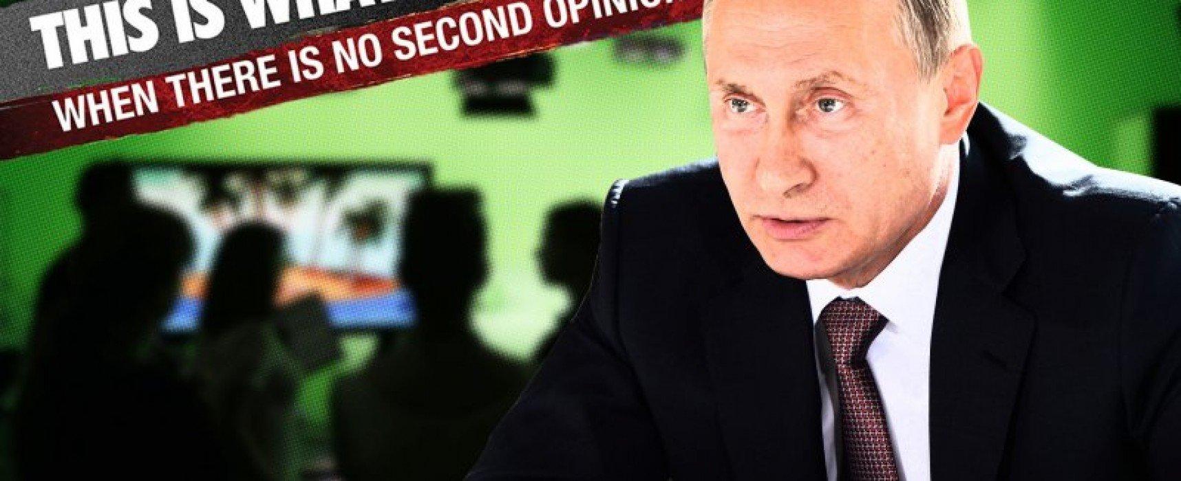 Putin's Propaganda TV Lies About Its Popularity