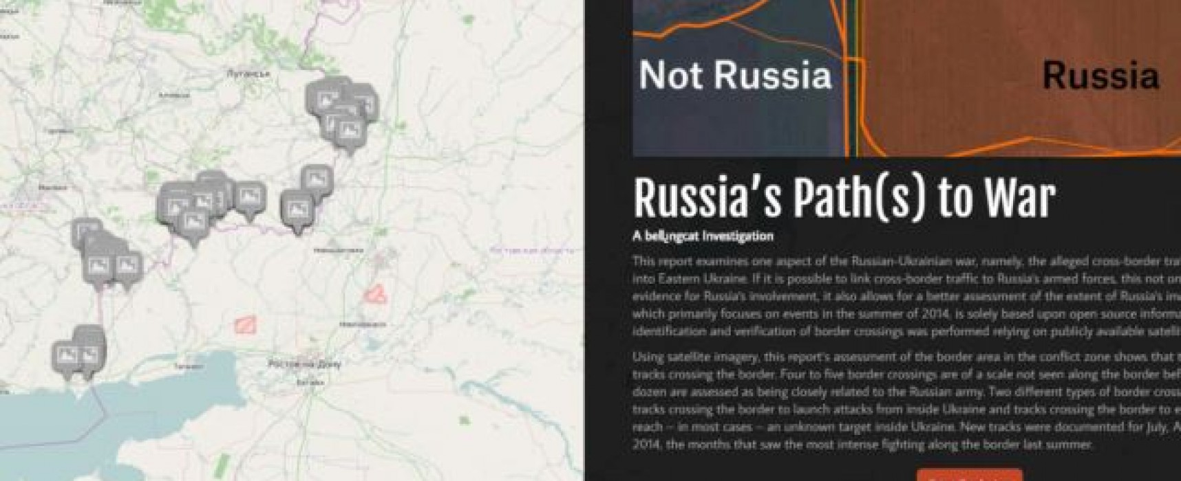 Bellingcat Published Report on Russian Military Crossing the Border of Ukraine