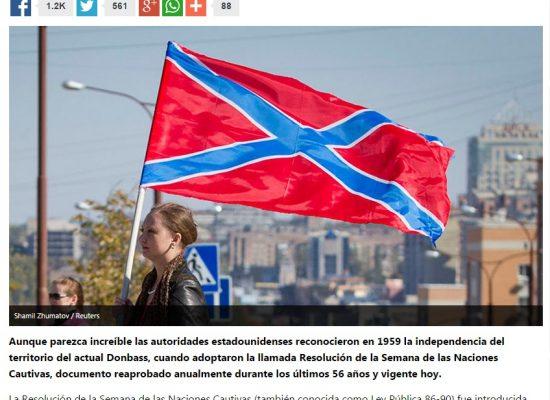 Falso: EEUU reconocieron la independencia de Donbás