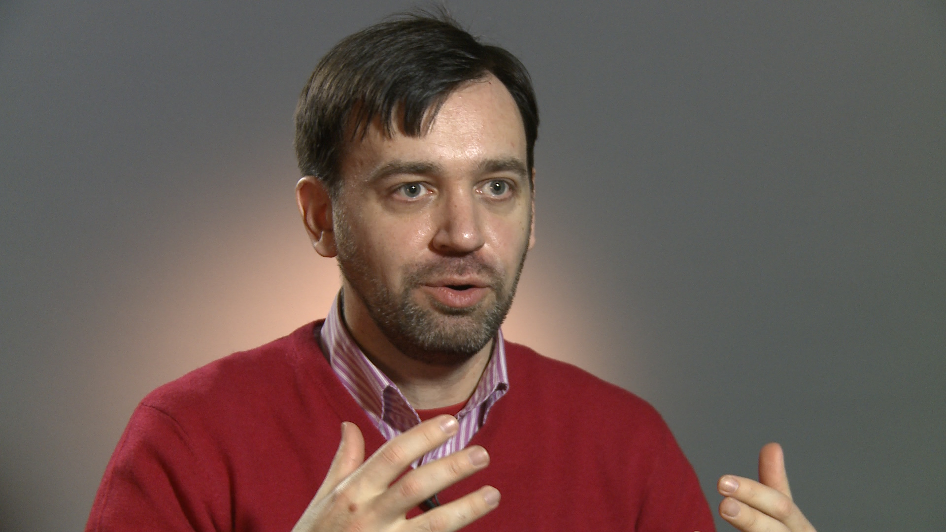 Yevhen Fedchenko, a co-founder of a fact-checking website stopfake.org and director of journalism school in Kiev. PHOTO: Re:Baltica/Mistrus Media