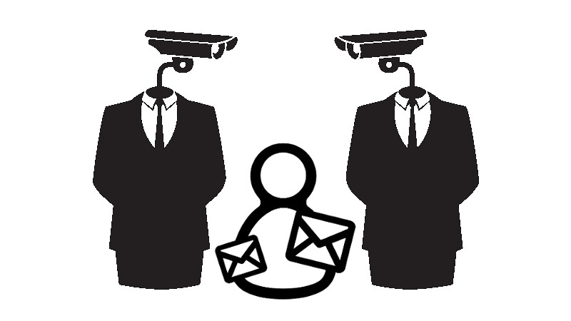 A Russian court has decided that Google's targeted ads violate users' right to private correspondence. Images: Email by Martha Ormiston and video surveillance by Ji Lee from the Noun Project. Mixed by Tetyana Lokot.