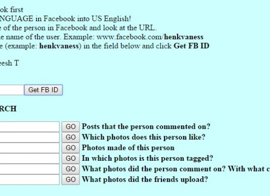 How to Find Information on Facebook. Part 2