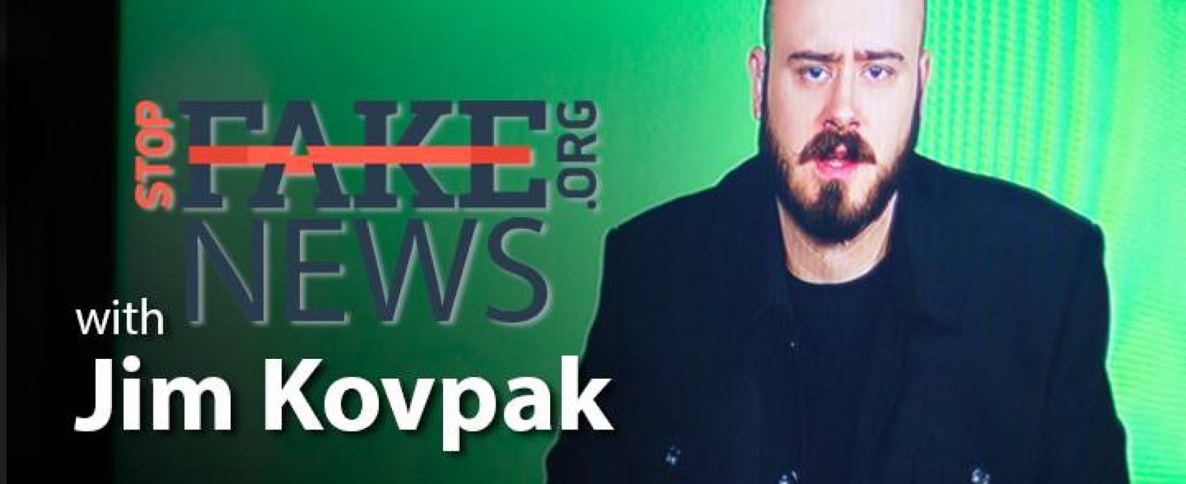 StopFakeNews #54 [ENGLISH] with Jim Kovpak