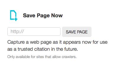 Скриншот сайта Wayback Machine
