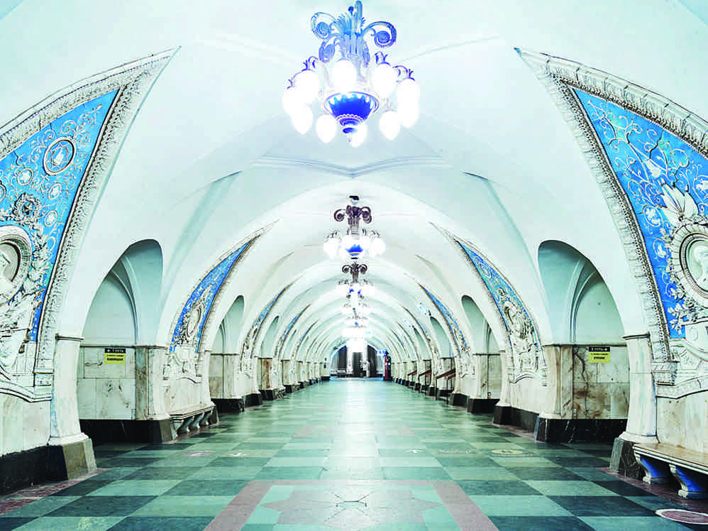 One of David Burdeny's photos of the Moscow metro (all images courtesy the Jennifer Kostuik Gallery and the artist)