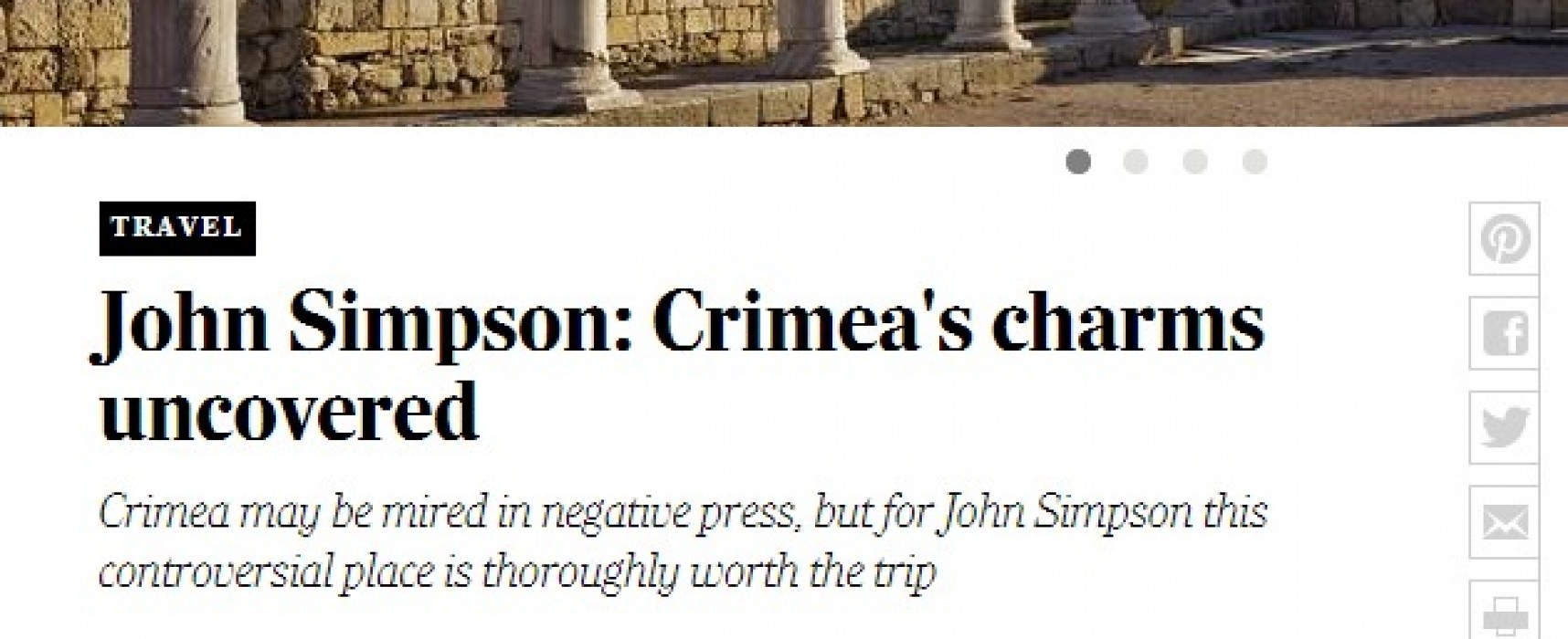 Telegraph's Crimea Travel Piece Full of Errors