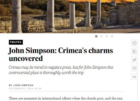 """The Telegraph"" a publicat falsuri despre Crimeea"