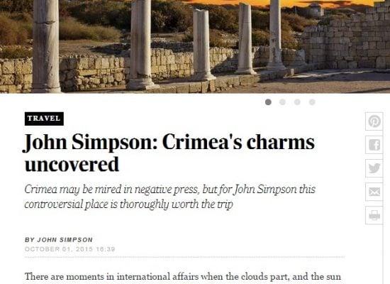"""Los fakes sobre Crimea en la nota de """"The Telegraph"""""""