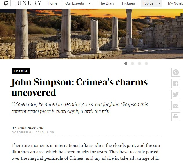 John Simpson  Crimea s charms uncovered   Telegraph