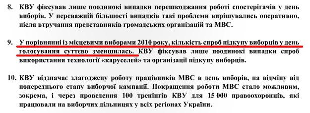 El fragmento del informe del Comité